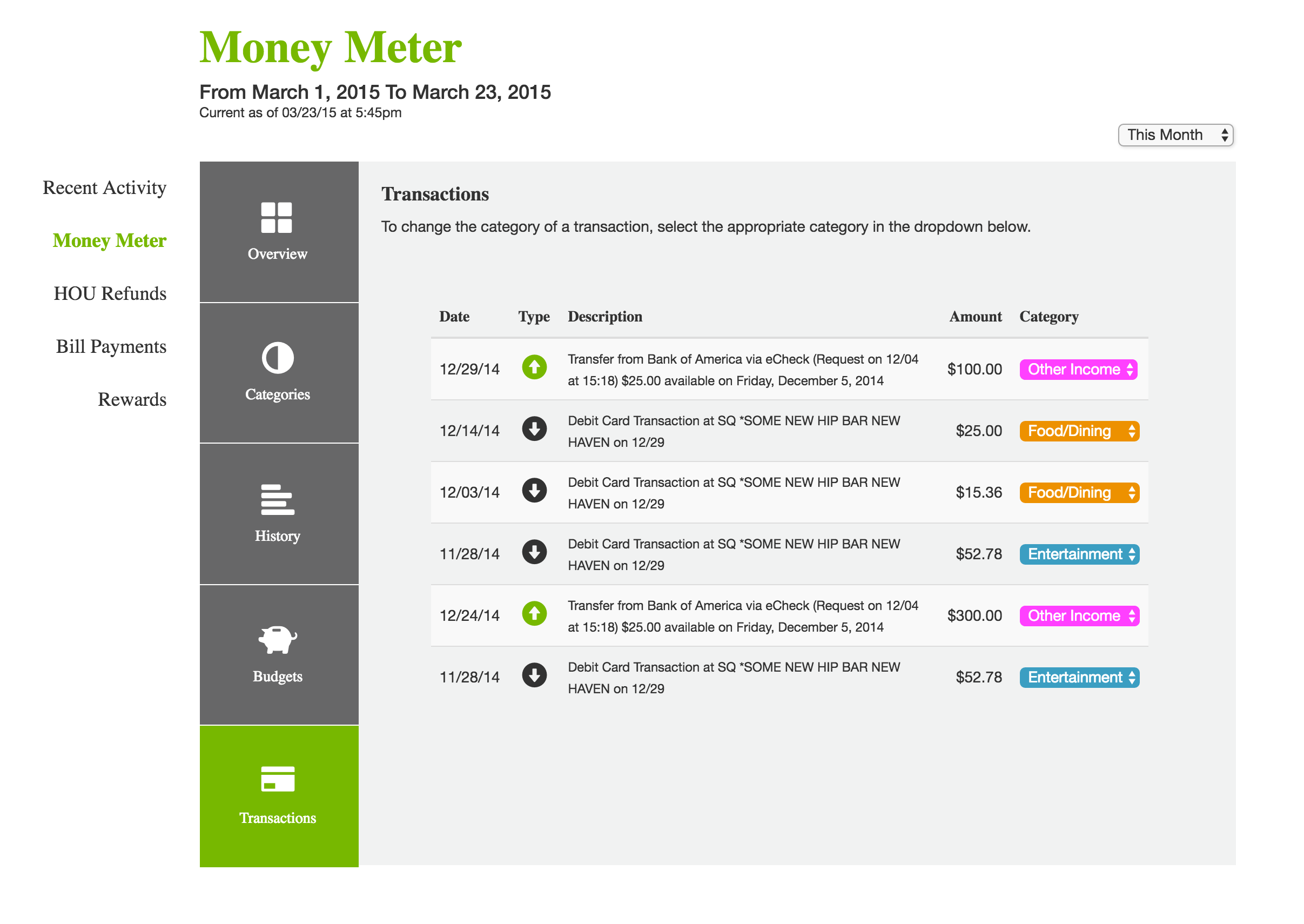 Money Meter Table Final Design